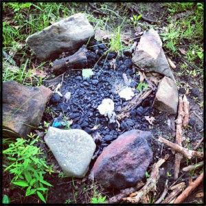 Geocaching in Harriman State Park Fire Ring