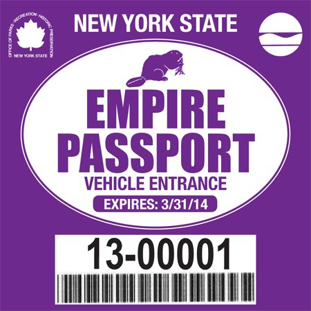 Empire Passport for admission to Harriman State Park