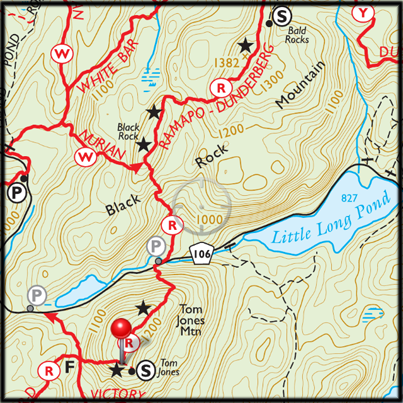Trail conference maps show parking, both on the roadside and in lots, that's available for overnight parking at Harriman State Park.