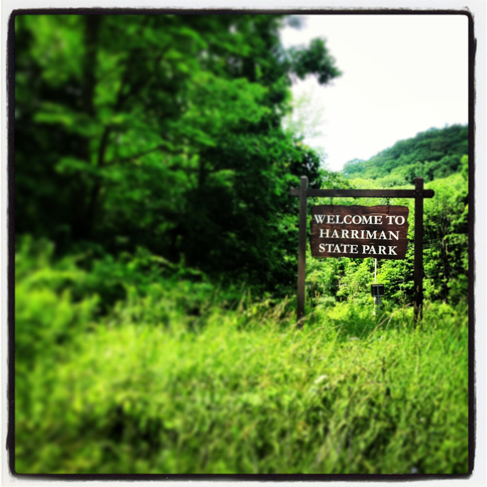 Welcome to Harriman State Park sign