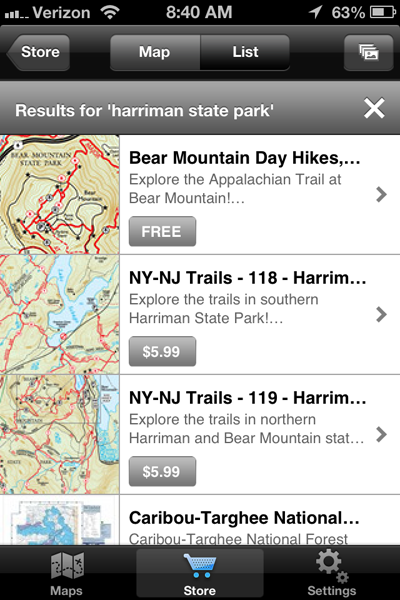 Maps available from the Avenza apps, to help you navigate the hiking trails of Harriman State Park New York.