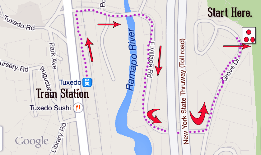 How Exactly to Get From Tuxedo Station to R-D Trailhead (with map ...