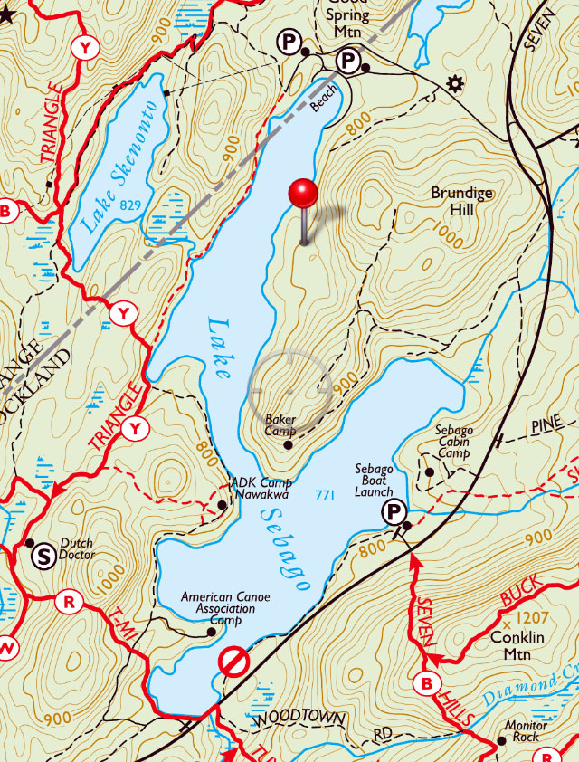 Sebago cabin camps harriman state park my harriman map showing lake sebago lake sebago beach sebago cabin camps in harriman state sciox Images