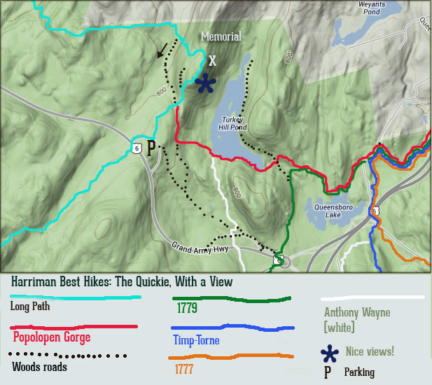 Our map for Long Mountain, Turkey Hill Lake and the Long Path in Harriman State Park New York is a downloadable PDF