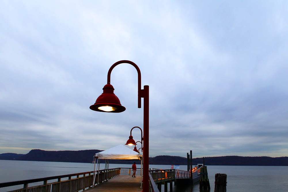 The ferry dock at Ossining's Metro-North train station.  The ferry takes fifteen minutes to cross the Hudson River to Haverstraw, New York, and from there it's an easy five-mile pedal to Harriman State Park, and the roads linking Lakes Tiorati, Welch and Sebago.