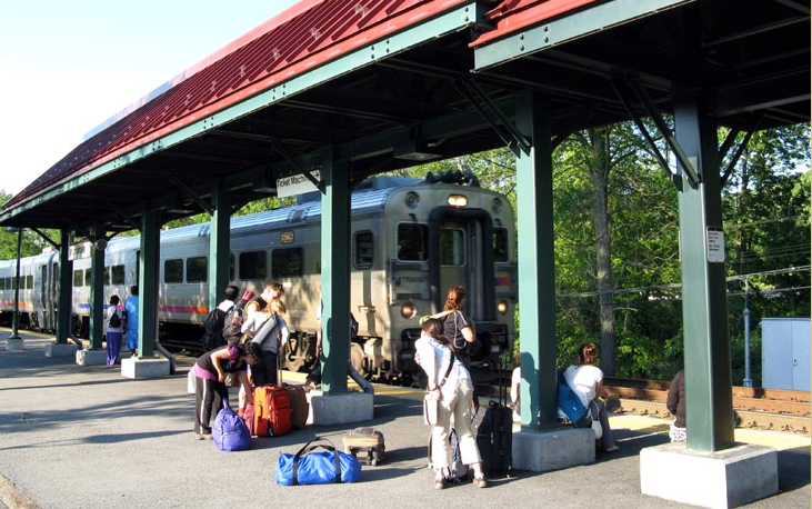 Harriman train station.