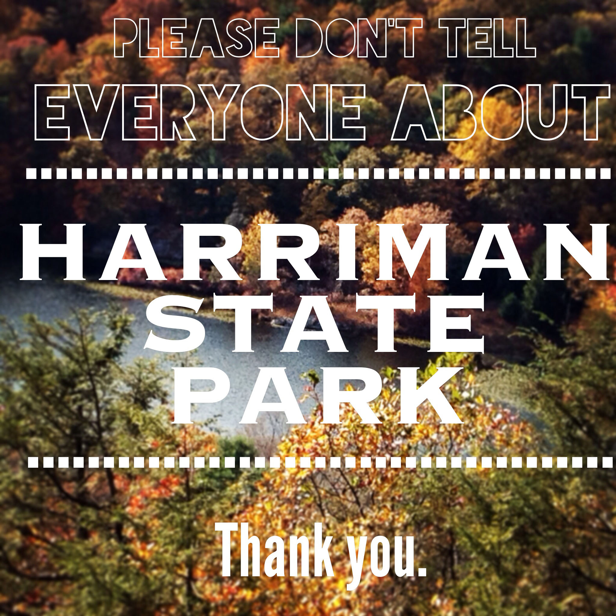 A sign for Harriman State Park