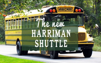 Ride the Harriman Shuttle