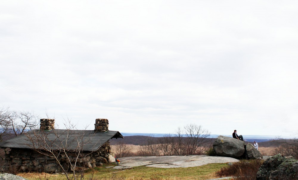 Big Hill Shelter, located along the Long Path and Suffern-Bear Mountain Trail in Harriman State Park.
