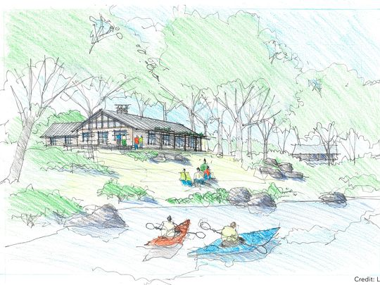 Rendering of Outdoor Center at Harriman's Breakneck Pond, run (and restored) by the AMC. The camp opens for business in July, but you can get a sneak peak on May 21.