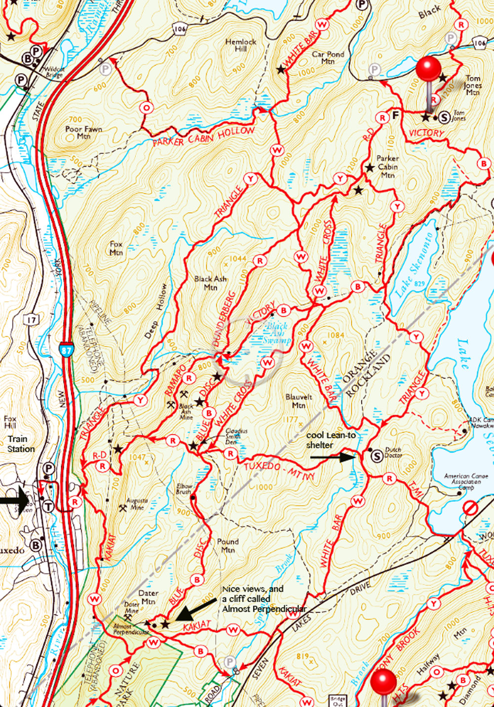Harriman-bear mountain trails maps pdfs